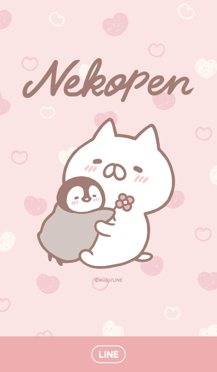 Penguin and Cat Days (Hearts)