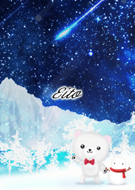 Eito Polar bear winter night sky