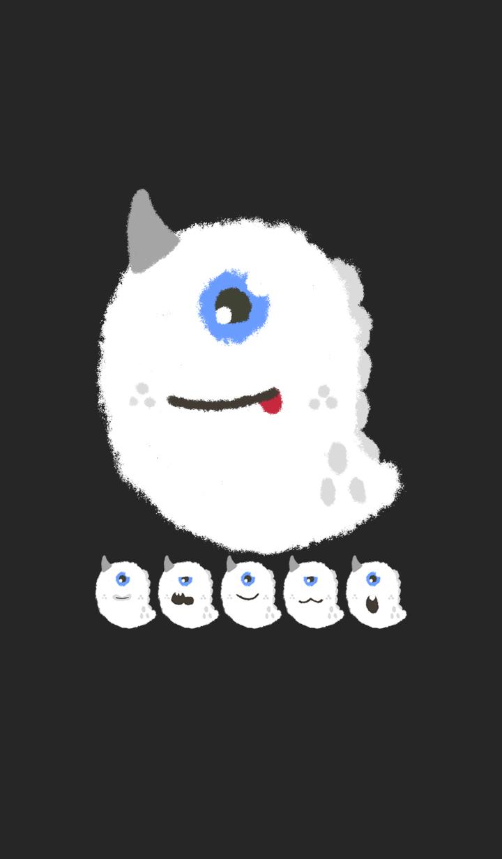 Kawaii white monster