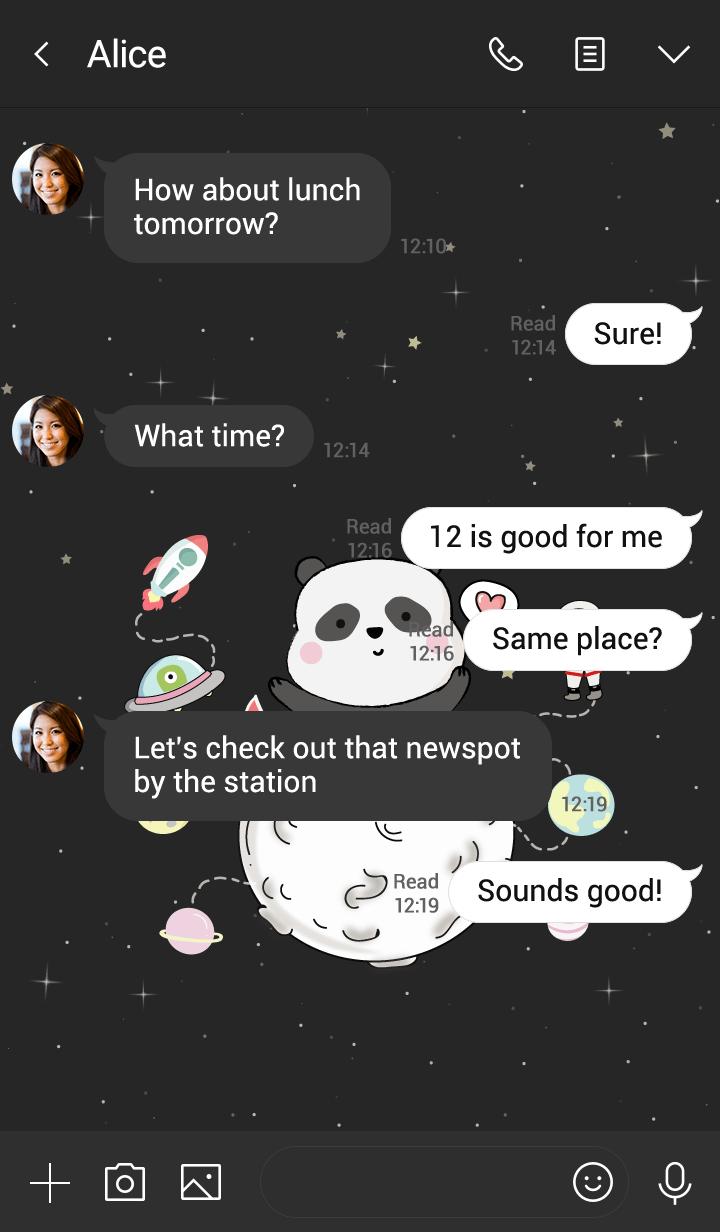 Panda On Space.