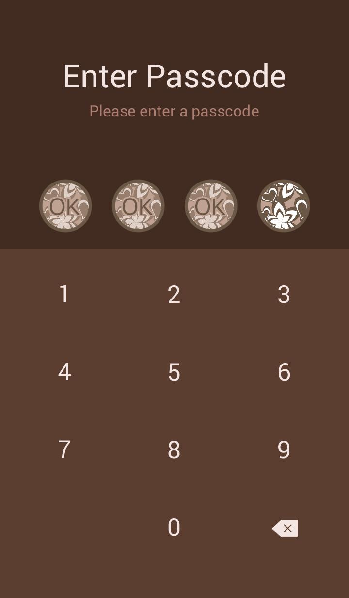 Chic diamond pattern -Brown-
