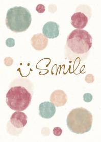 Watercolor Polka dot6 - smile20-