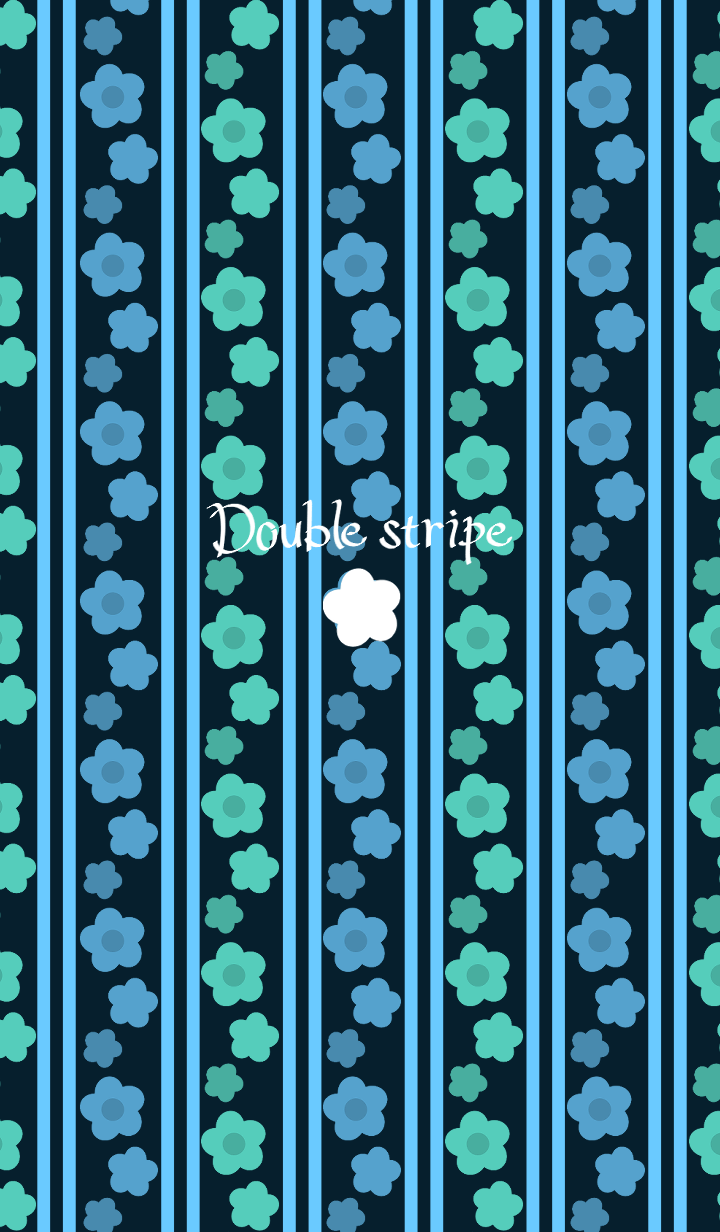 Double stripe -Cold color flowers-