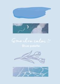 emo iro color _blue palette._