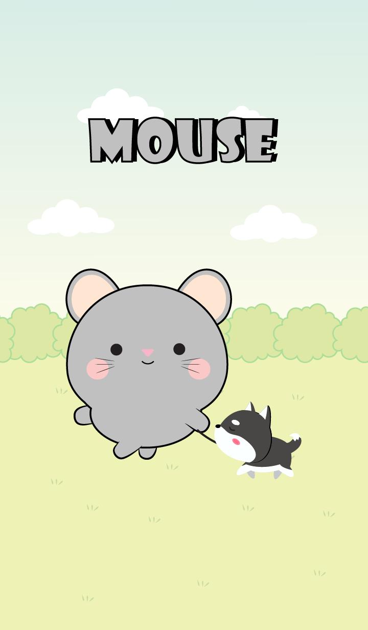 Mini Lovely Gray Mouse Theme (jp)
