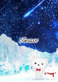 Iwase Polar bear winter night sky