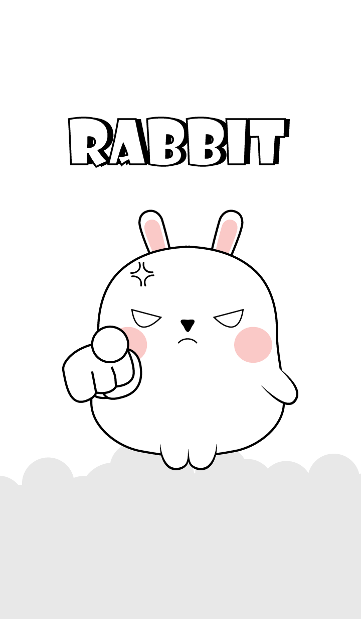 Emotion Angry White Rabbit (jp)