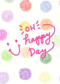Watercolor Polka dot3 - smile4-