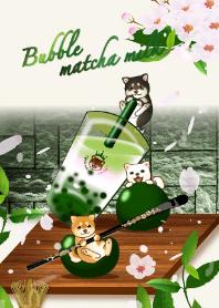 Bubble cherry matcha milk (...