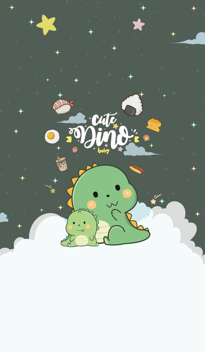 Dino Baby Night Green
