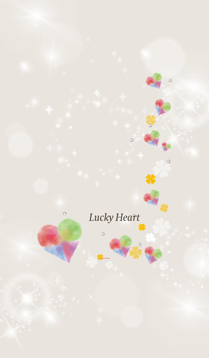 Beige Pink : Bright lucky heart