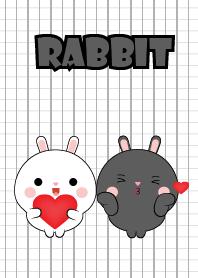 Mini Cute Black Rabbit & White Rabbit