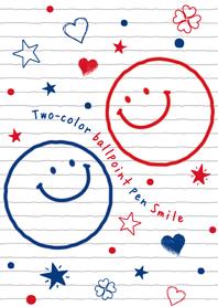 Two-color ballpintpen Smile*