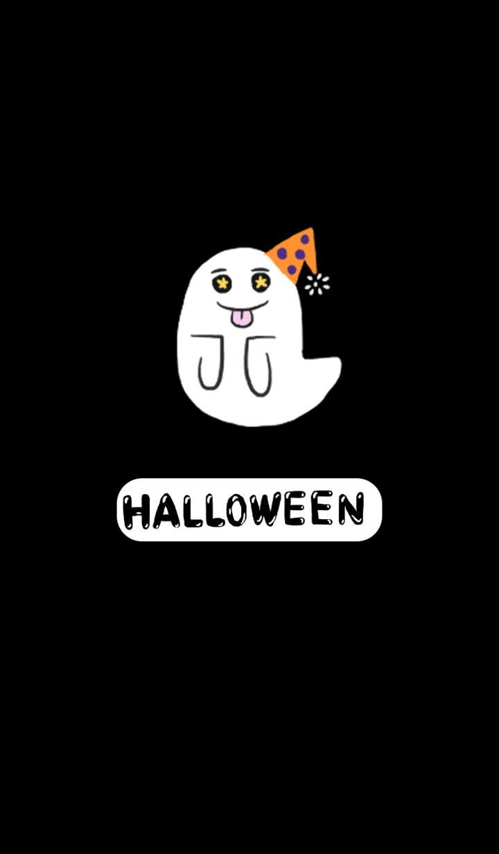 Halloween pumpkin and ghost
