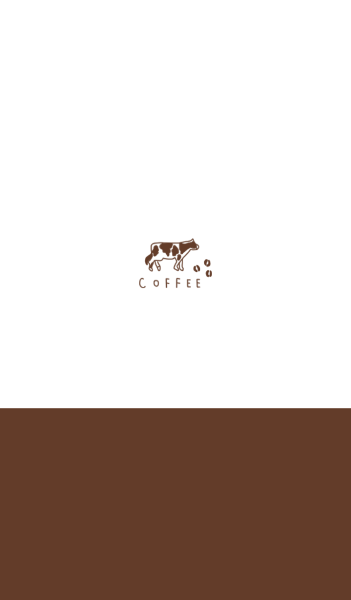 Coffee milk and cow