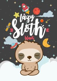 Sloth Lazy Galaxy Black