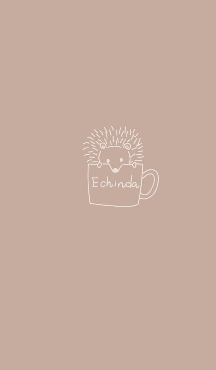 ベージュハリネズミinコーヒーカップ
