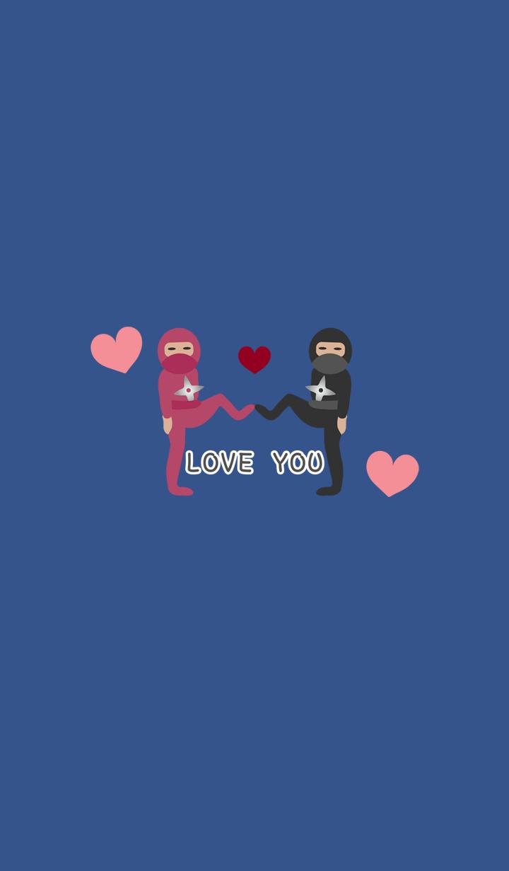 Cute hilarious ninja couple stall