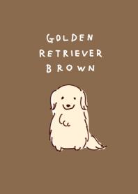 簡單的 金毛獵犬 棕色的
