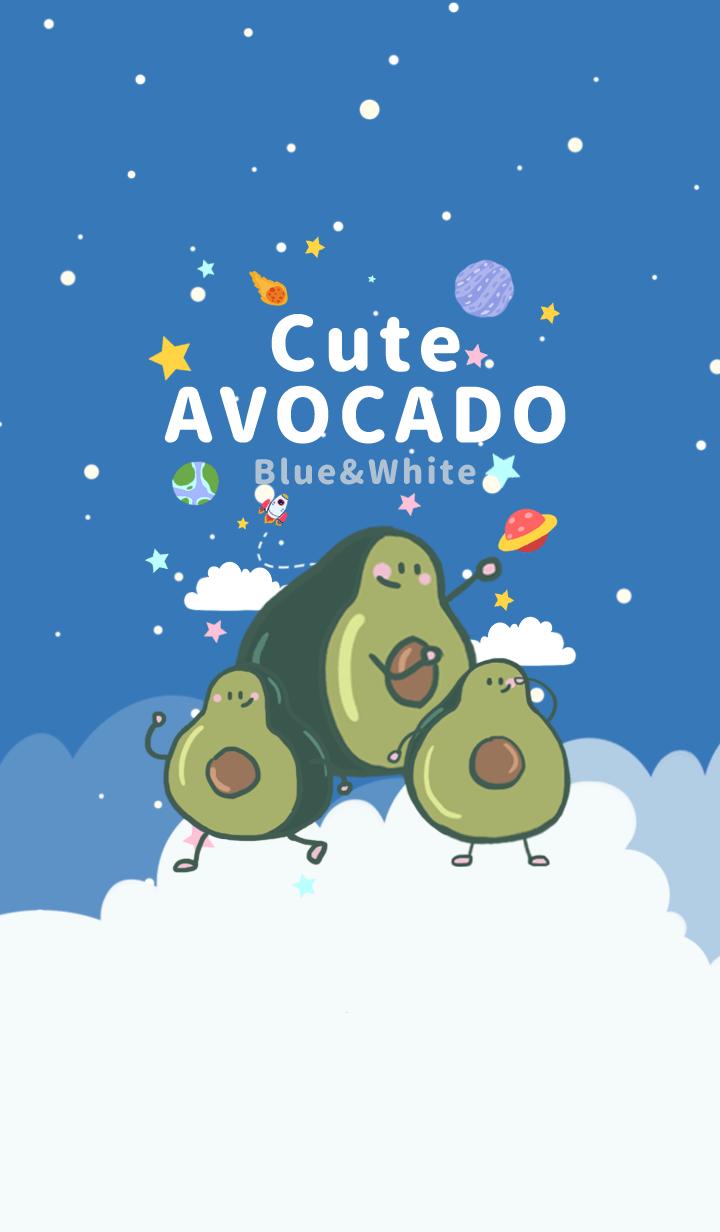 misty cat-avocado blue&white universe