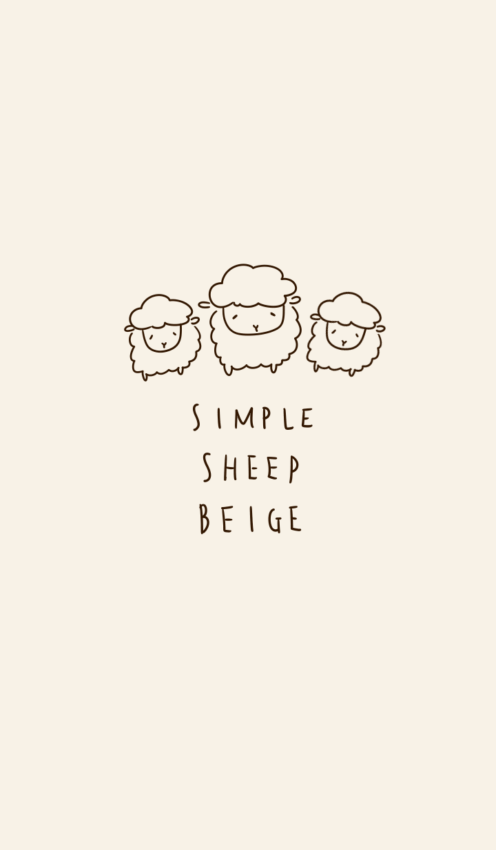 Simple sheep beige.