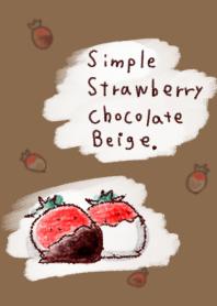 簡單 草莓 巧克力 米色