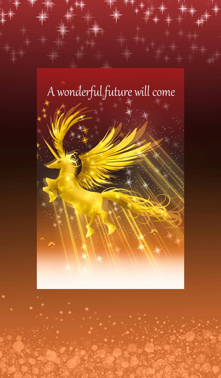 Golden shining unicorns fortune-up2.