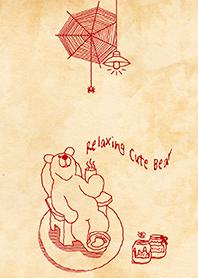 Relaxing Cute Bear. (Red)