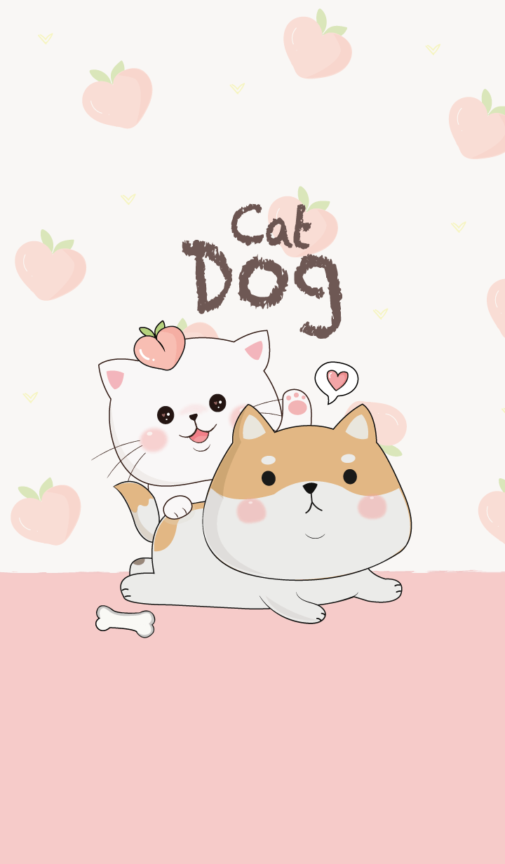 Dog and Cat Peach