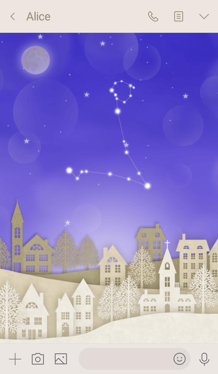 うお座と北欧風星空