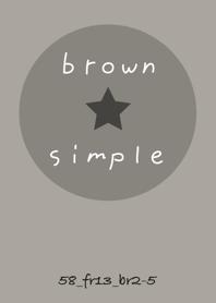 SIMPLE58 FR13 smoky ash brown2-5