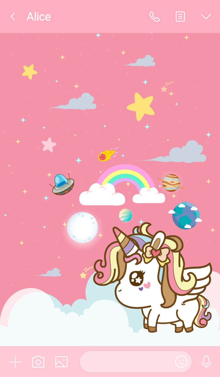 Unicorn Funny Galaxy Pink