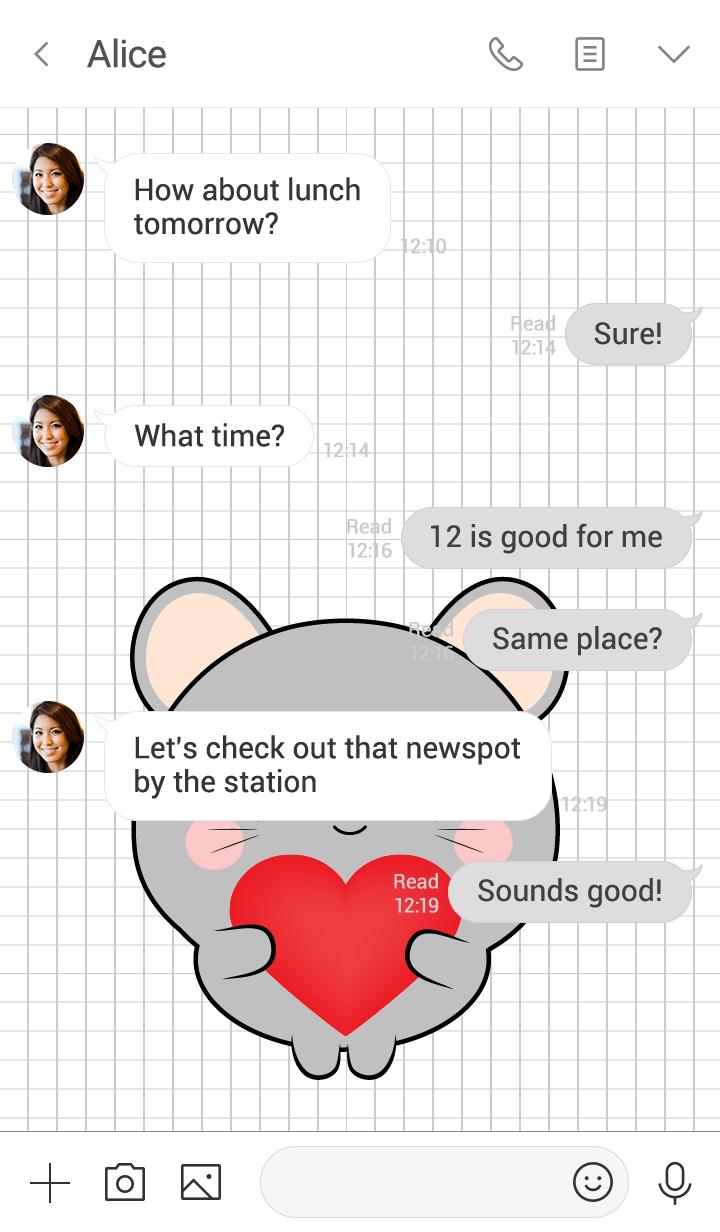 Mini Cute Gray Mouse Theme (jp)