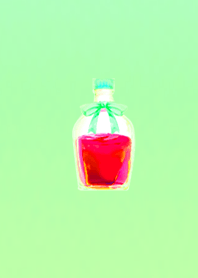 Happy vial red green
