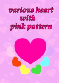 Various heart with Pink Pattern