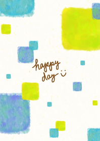 Watercolor square smile15 from Japan