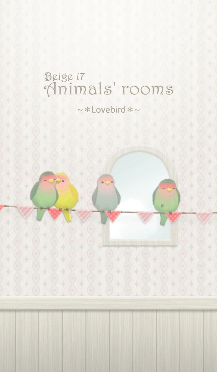 Animals' rooms[Lovebird]/Beige 17
