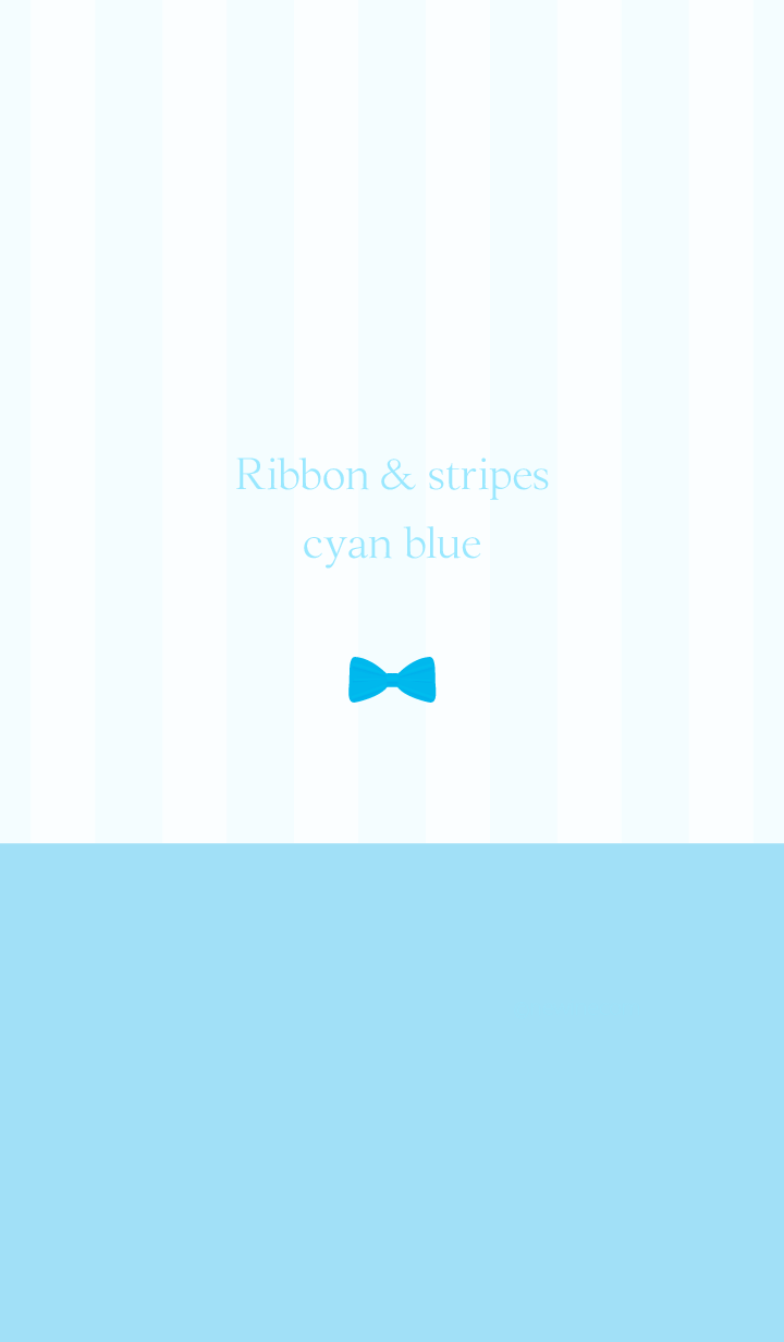 Ribbon & stipes cyan blue