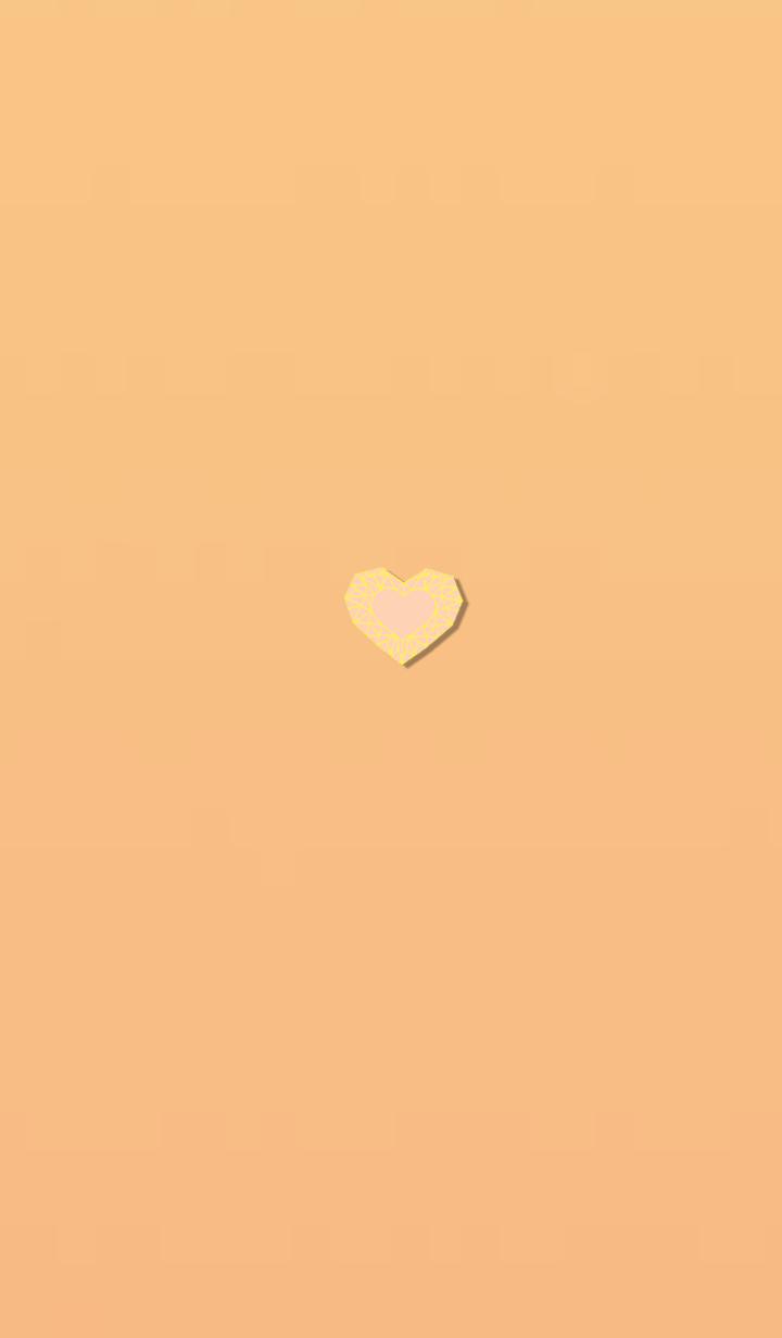 Orange yellow heart that changes life