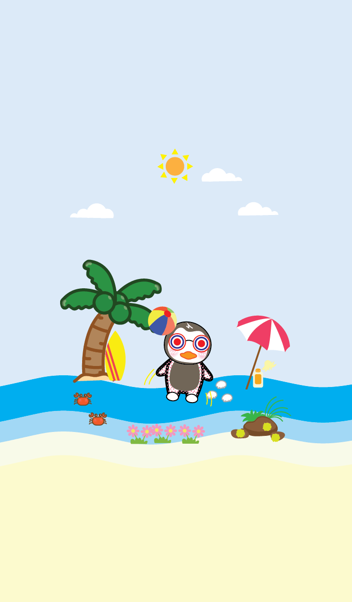 Penguins and the sea theme (JP)