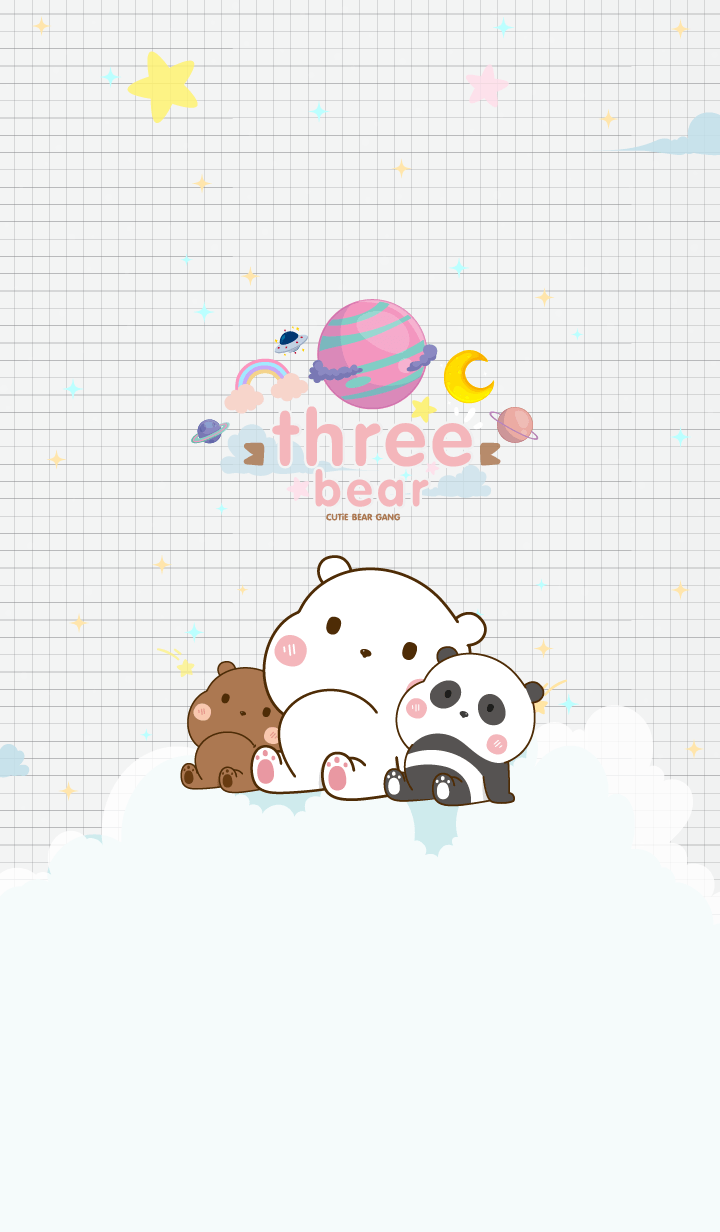 Bear Minimal Galaxy White