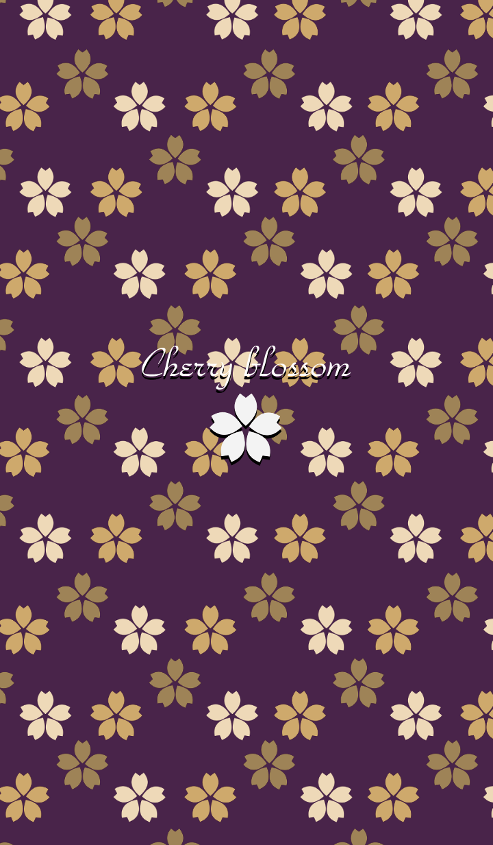 Cherry blossom -Purple-