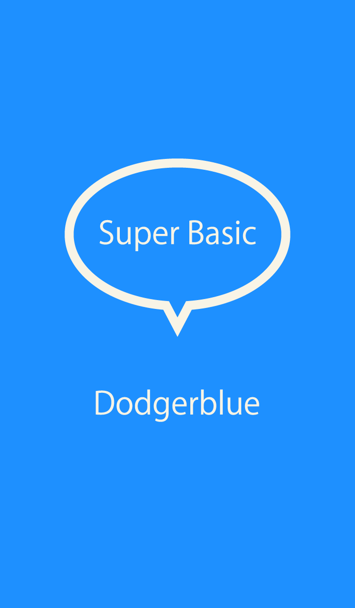 Super Basic Dodgerblue