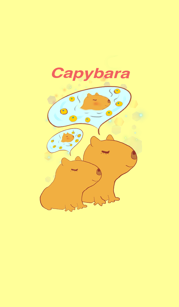 Hareruki of lovely capybara theme