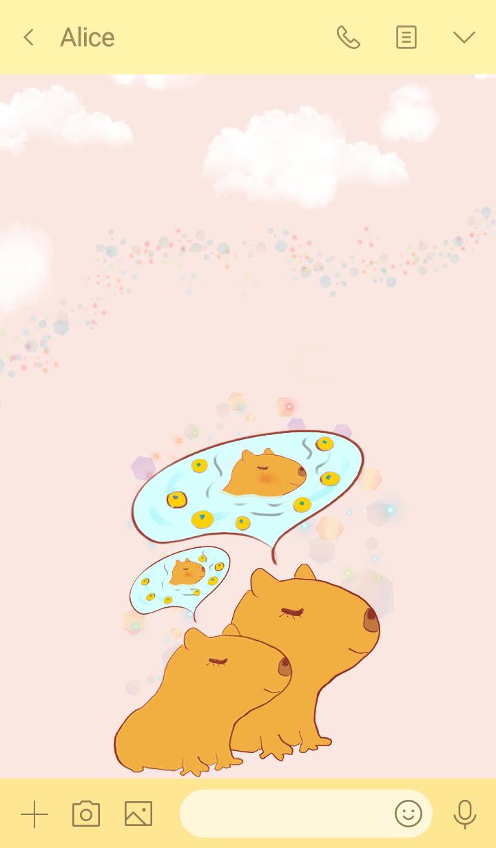 Hareruki of lovely capybara theme