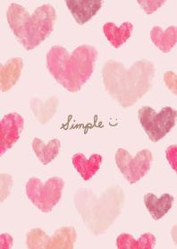 Watercolor many pink hearts29