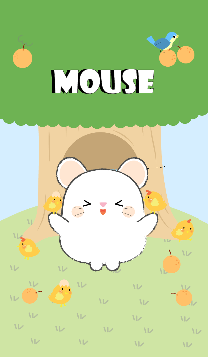 White Mouse With Tree Theme