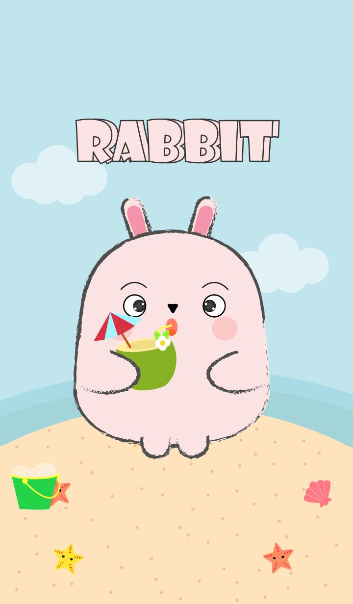 Summer Fat Pink Rabbit theme
