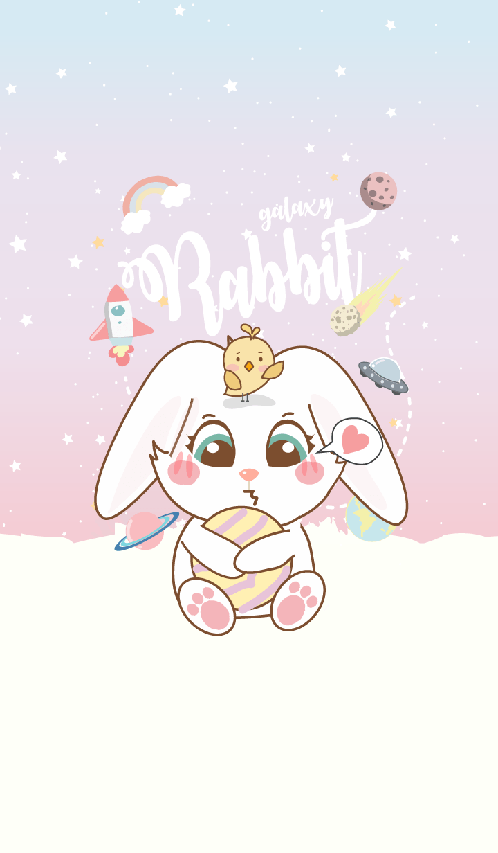 Rabbit in Galaxy (Pastel ver.)