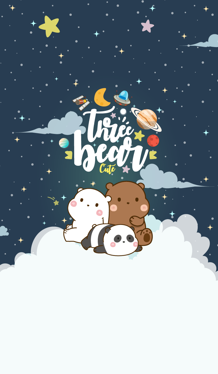 Bear Cute Galaxy Night Star
